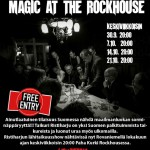 Magic At The Rockhouse – Viikoittainen taikashow Rovaniemellä